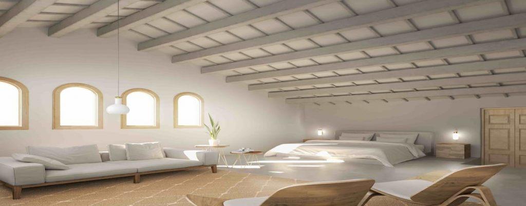 Finca rústica Coves Nove Menorca habitación