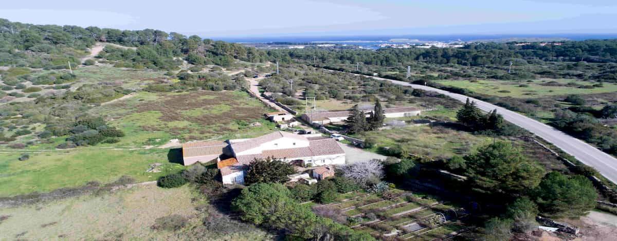 Finca rústica Coves Noves Menorca aerea